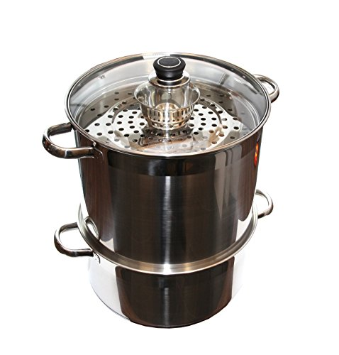 Uzbek 5 Level 20 Qt 18/10 Stainless Steel Steamer Warmer Cooker Mantovarka Manti by Uzbek Cookware