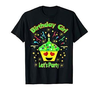 Amazon.com: Emoji día de cumpleaños niña camisa ojos de ...