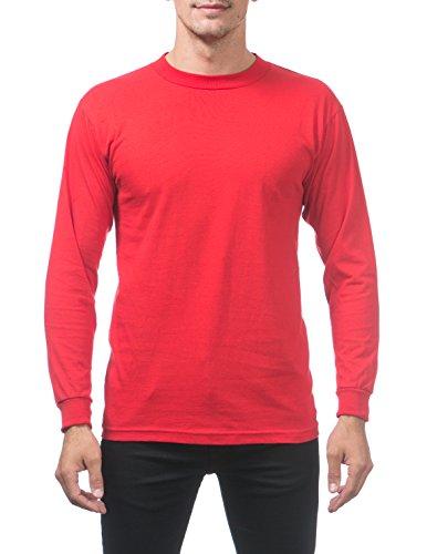 - Pro Club Men's Comfort Cotton Long Sleeve T-Shirt 4X-Large Red