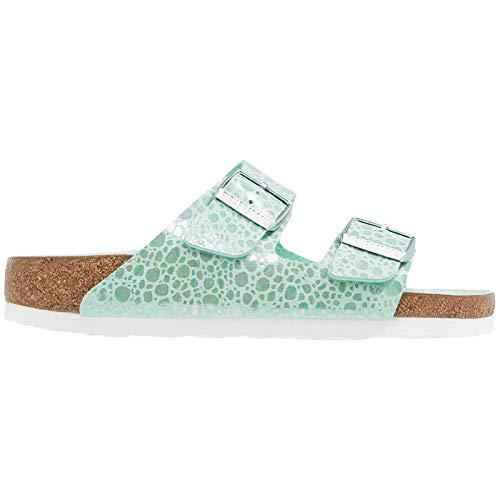 Birkenstock Unisex Arizona Birko-Flor Aqua Sandals 7 W / 5 M US