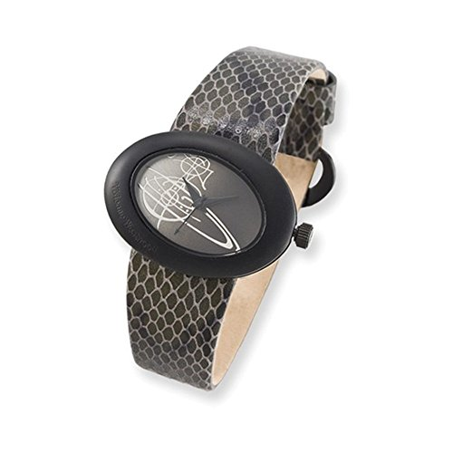 Ladies Vivienne Westwood Ellipse Grey Snake Pattern Watch
