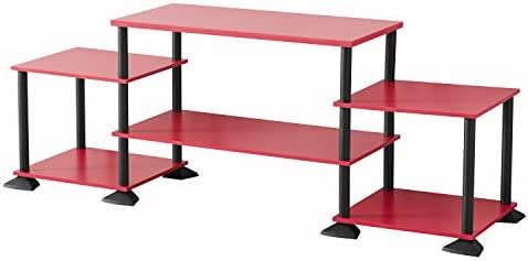 Mainstay No-Tool Assembly 3-Cube Entertainment Center for TVs up to 40 Red