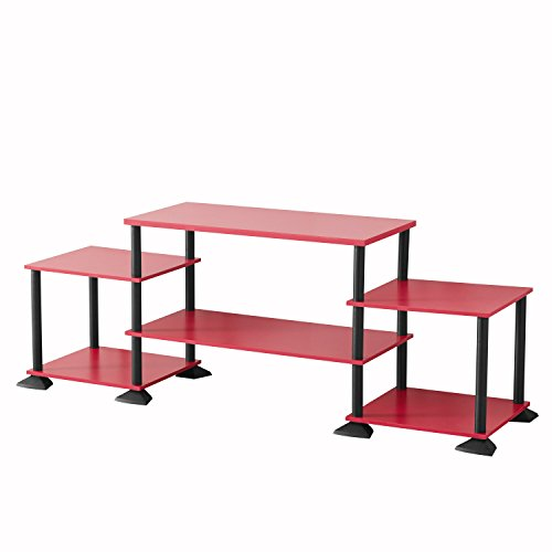 Mainstay` No-Tool Assembly 3-Cube Entertainment Center for TVs up to 40 (Red) by Mainstay`