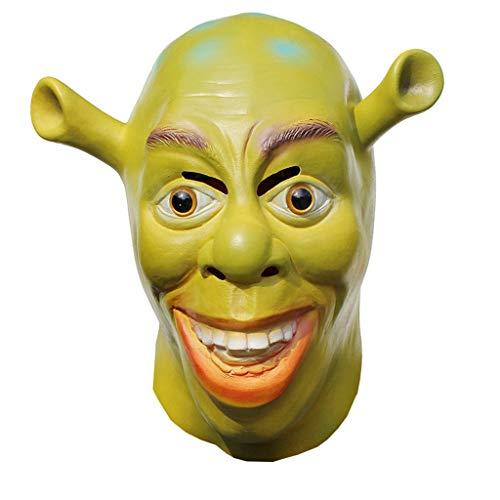 JGBHPNYX Shrek Mask Halloween Horror Latex Masquerade Head -