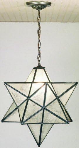 Meyda Tiffany 21211 Moravian Star Pendant, Mahogany Bronze Finish with Clear Seedy Art