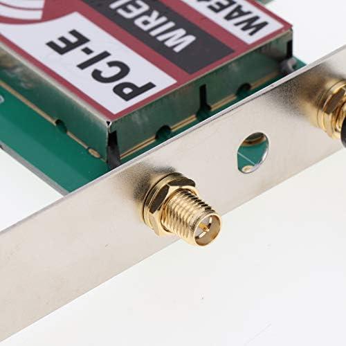 #N/A Antenne Amovible Externe PCI-E X1 WiFi WLAN Card pour Streaming Vidéo HD