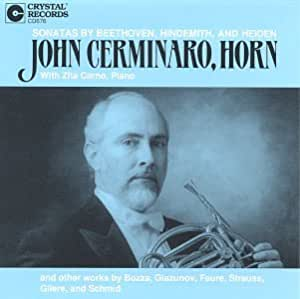 John Cerminaro, Horn: Sonatas by Beethoven, Hindemith and Heiden