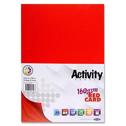Premier Stationery A4 180 gsm Activity Card - Canary (Pack of 50 Sheets) S4561211