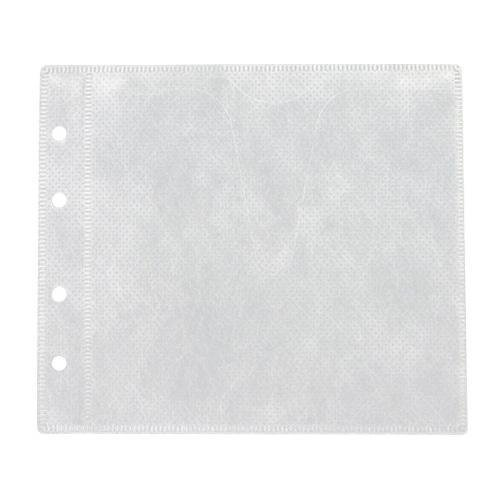 Mediaxpo Double-sided White Refill Sleeve CD Holder (Cd Double Sided White Refill)
