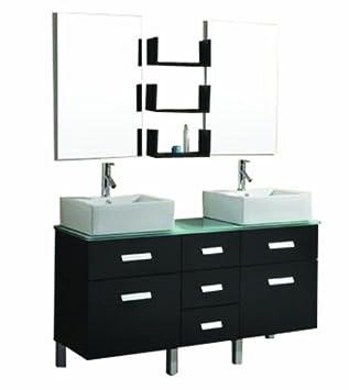 Virtu USA UM 3063 G ES Maybell 57 Inch Double Sink Bathroom