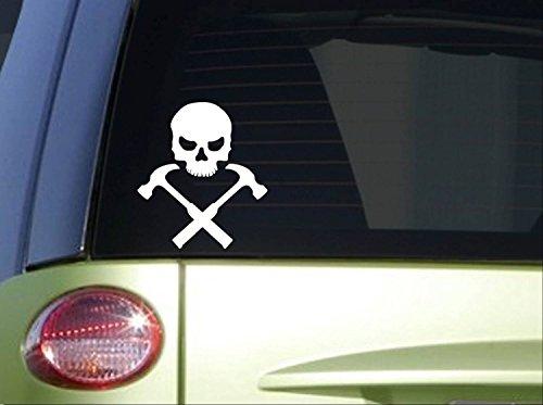 Hammers Skull Crossbones *I685* 6 inch Sticker Carpentry decal
