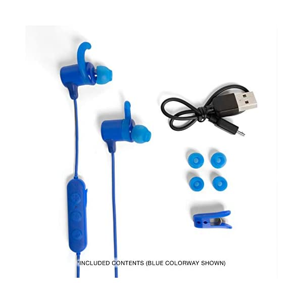 Skullcandy Jib Plus Active Sport Wireless in-Earphone with Mic (Red) 2021 July Bluetooth Wireless Technology, Secure FitFin Gels IPX4 Water and Sweat Resistant, 8 Hr Battery Life Microphone, Call, Track and Volume Control