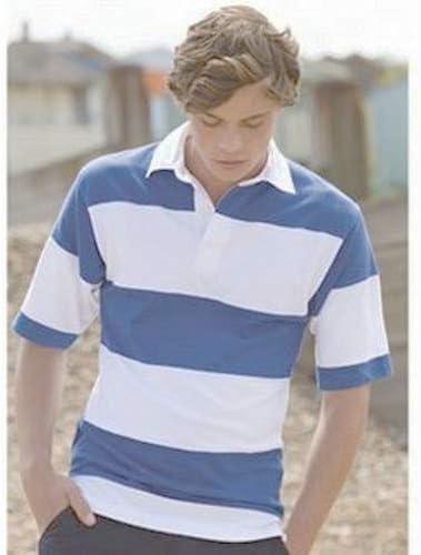 Front Row Raya de Cosido de Manga Corta Camiseta de Rugby: Amazon ...