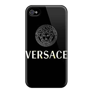 Best-phone-covers Iphone 4/4s Great Hard Cell-phone Case Unique Design Vivid Versace Skin [mmb1425rBLY]