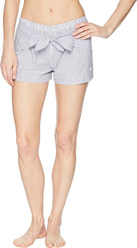 Emporio Armani Women's Shirt Passion Bow Front Shorts White/Blue Stripe Small ()