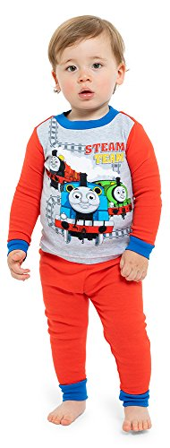 Nickelodeon Baby Toddler Thomas The Train Boys 4-Piece Cotton Pajama Set, Blue, 2T ()