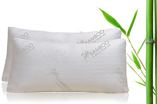 Bamboo By Relax Home Life Firm Bamboo Pillow With Shredded