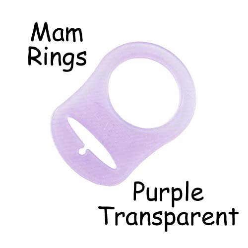 (5 MAM Ring Button Style Pacifier Adapter (Purple) - by i Craft for Less)