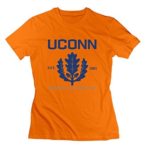 AJLNA Women's University Of Connecticut Established 1881 T-Shirt Medium Orange (Animal Jam Merchandise compare prices)