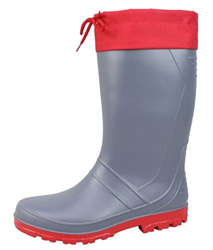 Hommes caoutchouc Rouge en AXEL 47 Tailles BOCKSTIEGEL® 36 haute de Bottes Gris qualité 5wpFxq