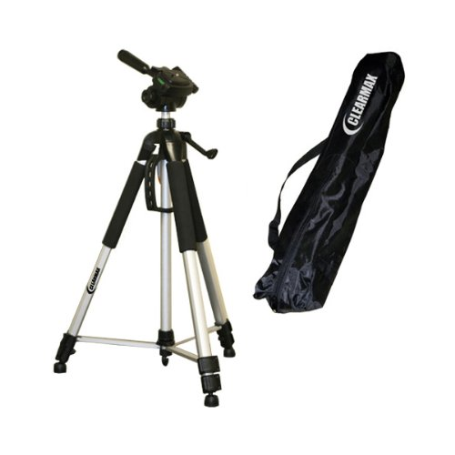 PROFESSIONAL 67 Inch Full Size Tripod with Carrying Case For The Canon Powershot SX10, SX1, SX110, E1, A2000, A1000, SX100, S5 IS, S3 IS, S2 IS Digital Cameras with Exclusive FREE Complimentary Super Deal Micro Fiber Lens Cleaning Cloth by SUPER DEAL
