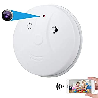 PESGONE WiFi Hidden Camera HD 1080P Smoke Detector Camera Security Nanny Cam Wireless Mini Video Recorder with Motion Detector/Night Vision, Support iOS, Android