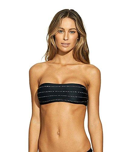 Dot Bandeau Top - ViX Swimwear Women's Stripe Dot Bandeau Top Black L