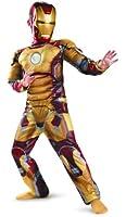 Marvel Iron Man 3 Mark 42 Boys Classic Muscle Costume, 7-8
