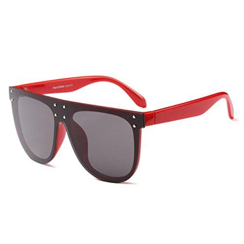 sobredimensionado cuadrado plana mujer de de ZHANGYUSEN sol marco oval Eyewear Gafas Hombres gafas de sol marco gris marca rojo Designer Mujeres Moda zXPXxOq