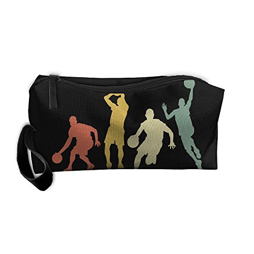 Portable Travel Storage Bags Play Basketball Clipart Clutch Wallets Pouch Coin Purse Zipper Holder Pencil Bag,kits Medicine And Makeup Bags Purse Clipart