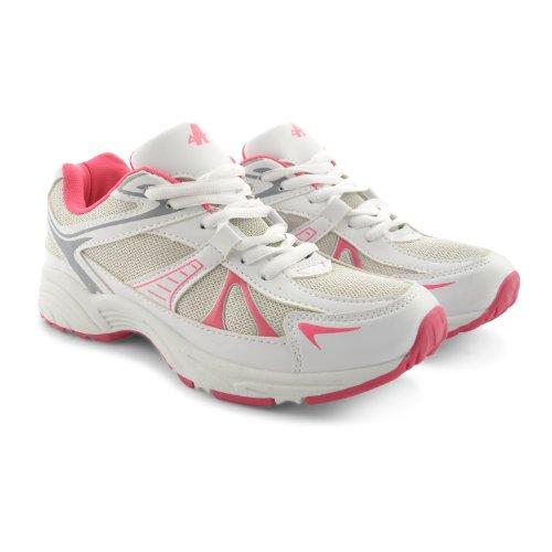 Footwear Sensation - Zapatillas para mujer Plata plata Plata - White Fuchisa Silver