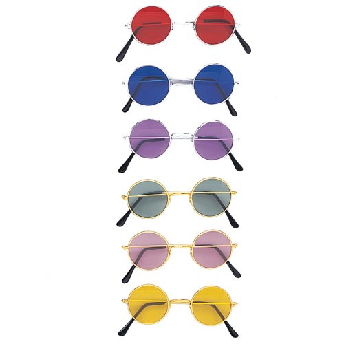 One Pair of Lennon Novelty Glasses, Assorted Colors