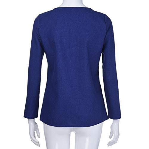 pour dcontractes M lgantes col Chemises Printemps Automne Jupes Coton Longues XL HENPI Shirt en S T 2XL V Chemises Marine Manches V Chemisier en col Chemises Femmes L en Chemises YUwx4nU50