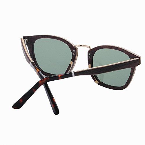 Gafas los sol conduce aire que libre del al la polarizados mano Retro Gafas ULTRAVIOLETA hechas frescas de a Playa marco hombres madera Protección de Marrón sol go TAC pesca esquí de de Lens de de Ojos Gafas qx4w17RE