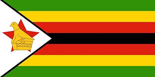 (Zimbabwe Flag 5ft x 3ft Large - 100% Polyester - Metal Eyelets - Double Stitched)
