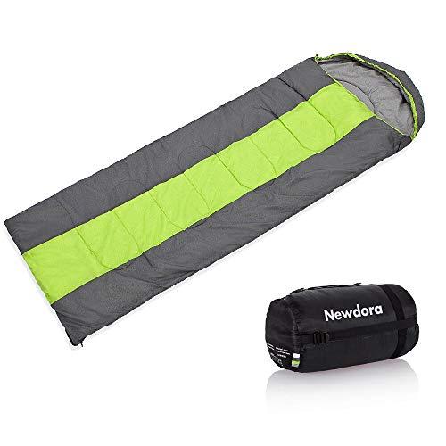 Newdora Broadened Sleeping Bag 85CM/33.5 Inch Width Envelope Lightweight Portable Mummy Sleeping Bag, Waterproof, Great for 4 Season Traveling, Camping, Hiking, Outdoor Activities(Single)