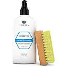 Shoe Cleaner Kit - Tennis, Sneaker, Boots, More - Premiun cleaning to remove dirt and stains. Free Brush 8OZ TriNova