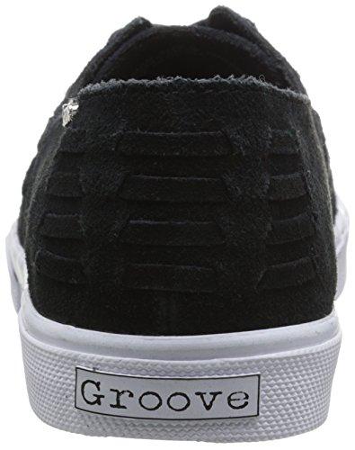 Groove Womens G-man Fashion Sneaker In Camoscio Nero