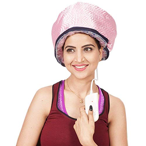 Suhav Hair Care Nourishing Beauty Steamer SPA Electric Heat Therapy Cap.(PINK)