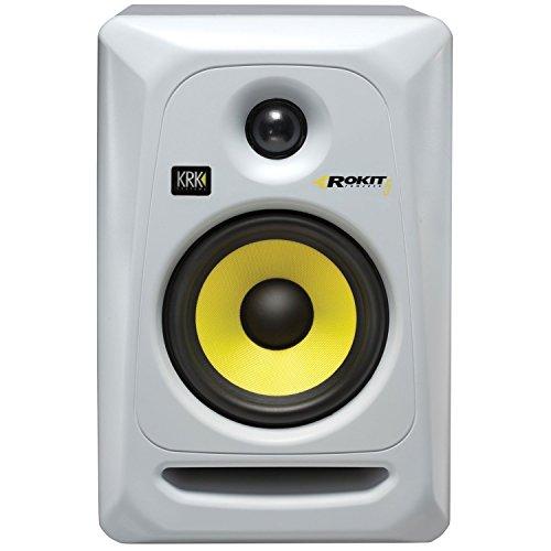 (2) KRK RP5G3W Rokit White 5'' Active Powered Studio Monitors+Stands+Foam Pads by KRK (Image #2)