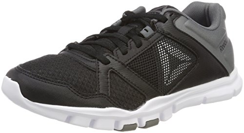 Mt 0 Black Shoes 10 Yourflex Trainette Women's Reebok White Black Grey Alloy 5 Fitness 5 FqIagg