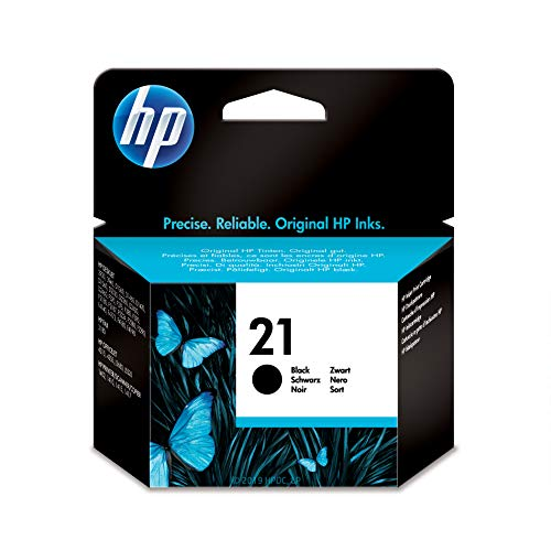 HP 21 Black Ink Cartridge (C9351AN) for HP Business Inkjet 1000 1100 1200 2300 2600 2800 HP DesignJet 100 110 HP OfficeJet 9110 9120 9130 OfficeJet Pro K850 HP Color - Print Inkjet Cartridge 21