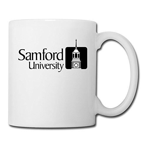 White Samford University Sab04Fl Ceramic Mug Cup 11oz Unisex Printed On Both Sides (Arkansas Razorbacks White Ceramic)