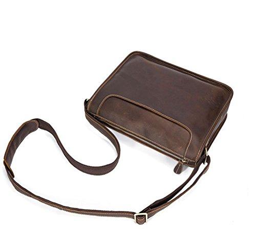 Bolsos Bolsa 1 Bolsos Resistentes Piel 5x9x25CM 32 Bandolera Pecho Cuero y Hombro Bolso de de Hombre Mochila Sucastle Autentico Pequeña WCwZx4qHSO