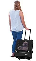 Pet Gear I Go2 Plus Traveler Rolling Backpack Carrier For Small Cats And Dogs