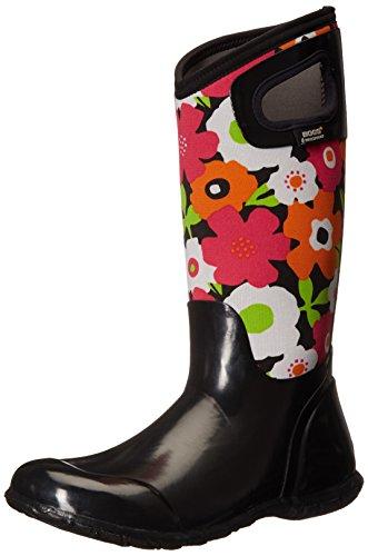 Multi Spring Flowers North Women's Hampton Boot Bogs Insulated Waterproof Black PwzgqxSyt