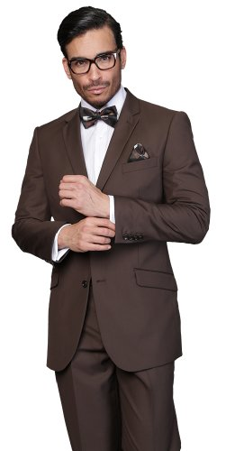 Mens Brown Wool Suit - 5