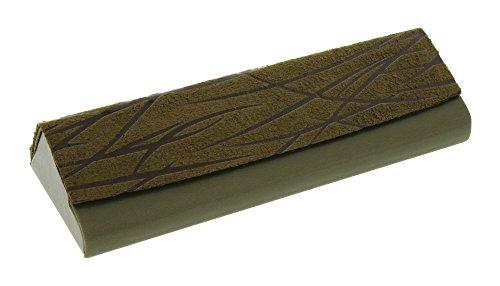 Sleek Angular Faux Leather Hard Glasses Case For Women & Men, Small, - Frames Angular