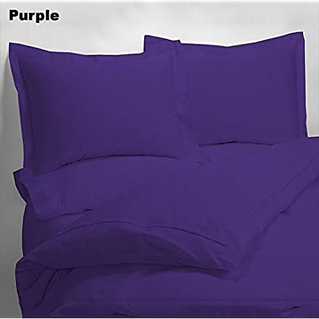 Luxury 600 Thread Counts 7pc Bed In A Bag Expanded Queen Super Queen Size Purple Solid 100 Egyptian Cotton By PARADISEHOUSE