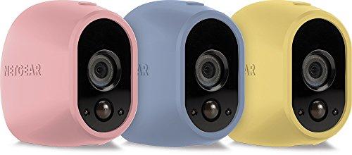 Arlo by NETGEAR Skins – Set of 3 (Pink/Blue/Yellow) – Arlo Compatible...